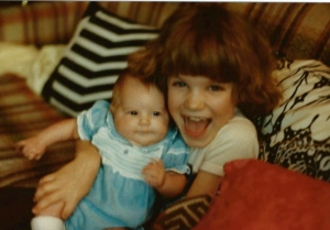 Look at us as kids! Who knew then our body chem's would be so different!